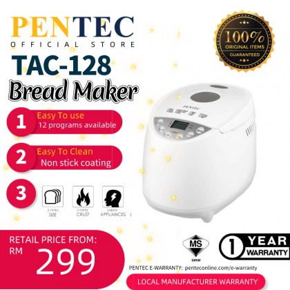 PENTEC Bread Maker TAC-128 12 Digital Programs Crust Control Capacity 500g 700g