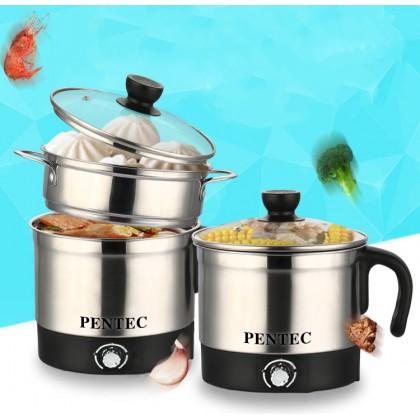 PENTEC Mini Multi Cooker Kettle & Steamer (1.8L) JK-28A Stainless Steel