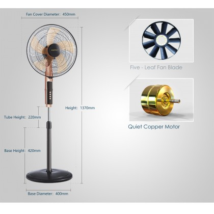 "PENTEC Stand Fan with TIMER 18"" TAC-1818 KIPAS BERDIRI SIRIM Approved"