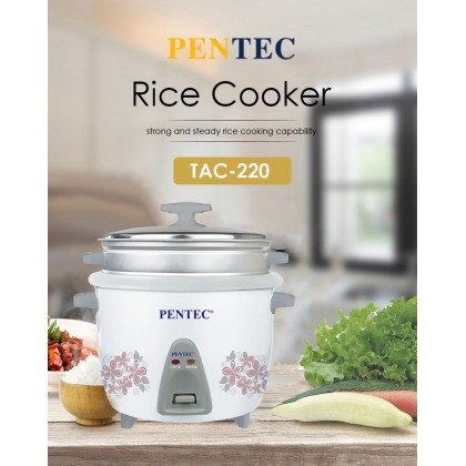 Pentec Rice Cooker TAC-220 1L Inner Pot For Easy Cleaning Automatic Keep warm Function