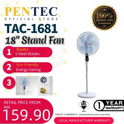 """PENTEC Stand Fan 18"""" TAC-1681 KIPAS BERDIRI New Design"""