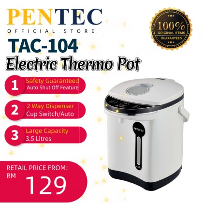PENTEC Electric Thermo Pot Warm Keep Water Milk Baby 3 Litres Interior Stainless Steel TAC-104 Thermo Pot