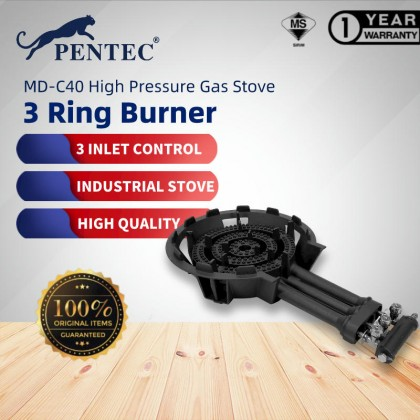 Pentec Industrial Gas Stove MD-C40 Restaurant Single Commercial Fire Stove