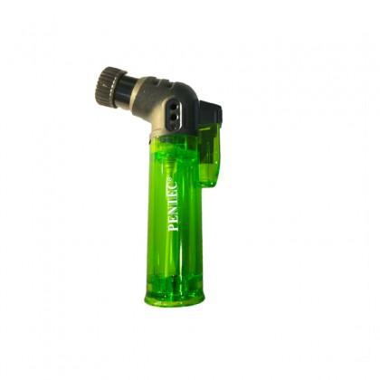 PENTEC TL-0701 Jet Flame Lighter Butane Refillable Windproof Blue Flame (Random Color)